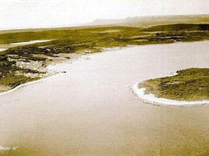 Aerial view of Port Saunders from 1933. Photo provided by Tom Caines.